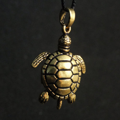Movable Turtle Pendant Large-JEWELLERY / NECKLACE & PENDANT-Not specified-Brass-The Outpost NZ