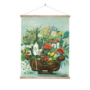Native Flowers Large Wall Chart-NZ ART-100% NZ (NZ)-The Outpost NZ