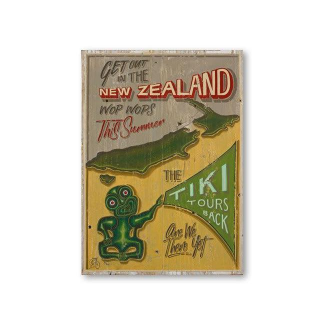 New Zealand Tiki Tour Canvas By Jason Kelly-NZ ART-Image Vault ltd (NZ)-The Outpost NZ
