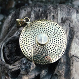 Niroja Brass Pendant-JEWELLERY / NECKLACE & PENDANT-Gopal Brass Man (IND)-Moonstone-The Outpost NZ