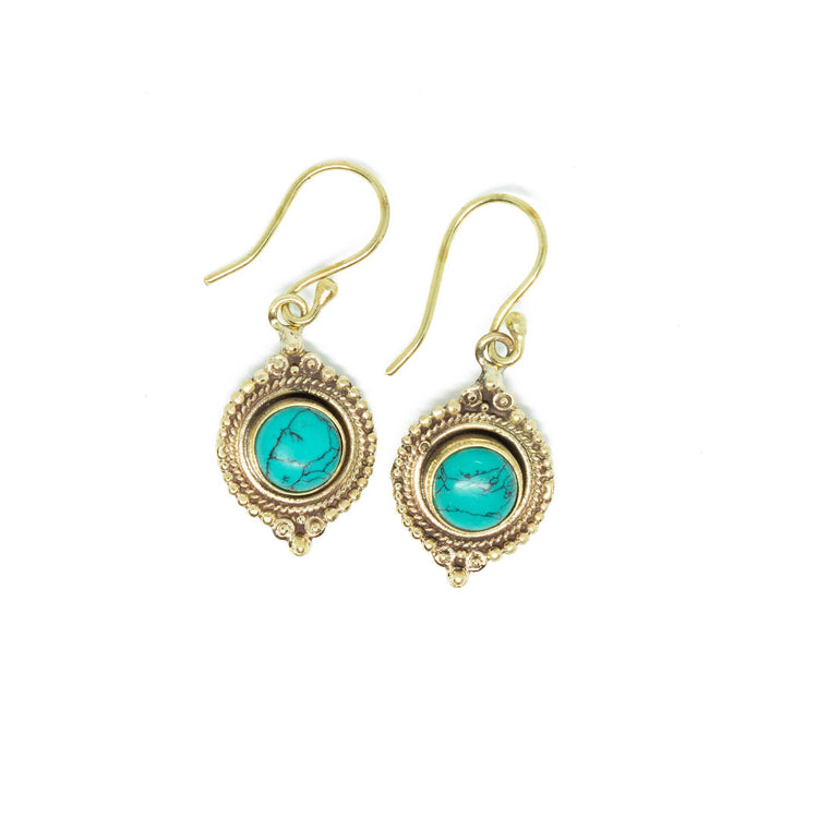 Novitha Brass Earrings