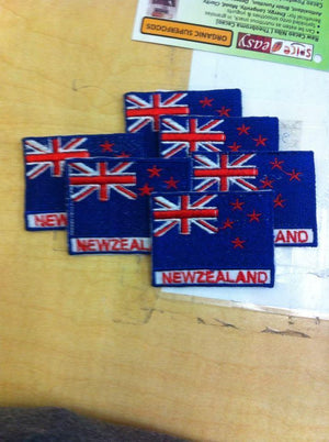 NZ Flag Iron on Patches-ACCESSORIES / OTHER-Annapurna Embroidery (NEP)-The Outpost NZ
