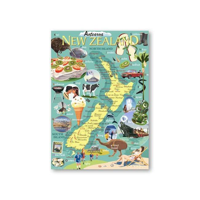 NZ Icons Canvas By Contour Creative Studio