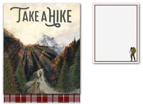 NZ Magnetic Notepads-NZ STATIONERY-Live Wires (NZ)-Take a Hike-The Outpost NZ