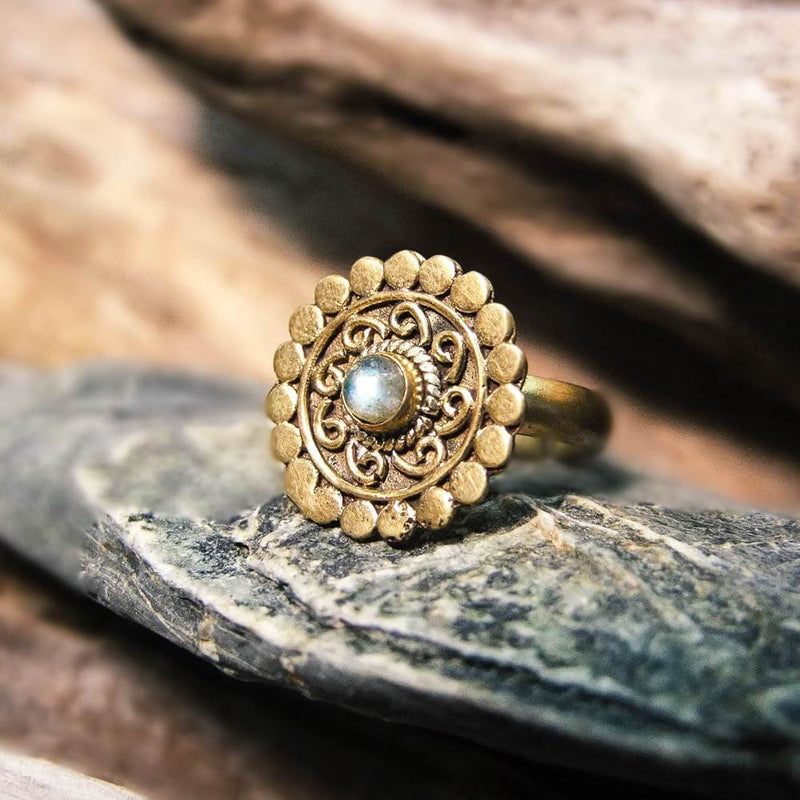 Onora Brass Ring-RINGS-Not specified-Moonstone-The Outpost NZ