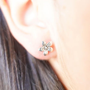 Orchid Silver Studs-JEWELLERY / EARRINGS-Mimi Silver (THA)-The Outpost NZ