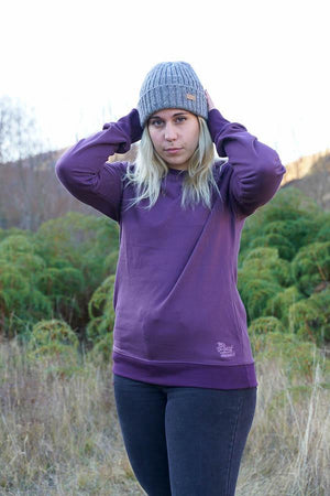 Organic Cotton Sweatshirt-CLOTHING / OUTERWEAR-Trance Trip (NEP)-Plum-S-The Outpost NZ