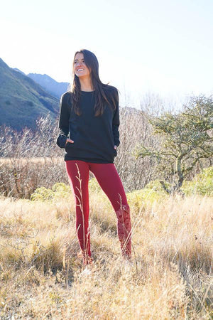 Organic Legging-CLOTHING / PANTS-Trance Trip (NEP)-Leaf-Henna-S-The Outpost NZ