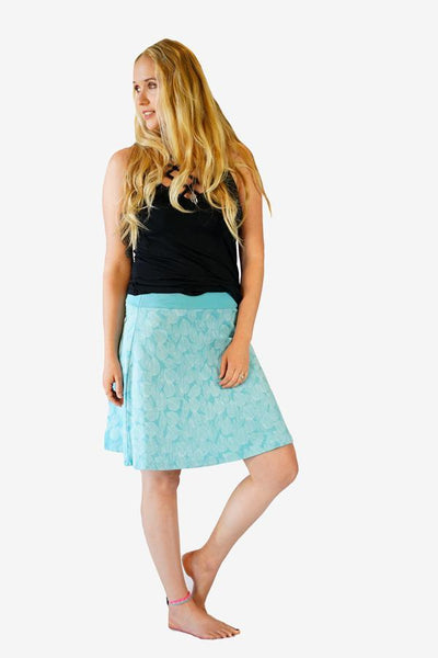 Organic Skater Skirt-CLOTHING / SKIRT-Trance Trip (NEP)-Leaf-Black-S/M-The Outpost NZ
