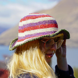 Clara Crochet Hemp and Cotton Hat - The Outpost NZ