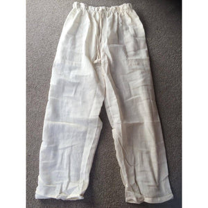 Pants - Rustic Cotton-CLOTHING / PANTS-Gujral Fashion (IND) XX BAD SUPPLIER XX >:(-Cream-The Outpost NZ