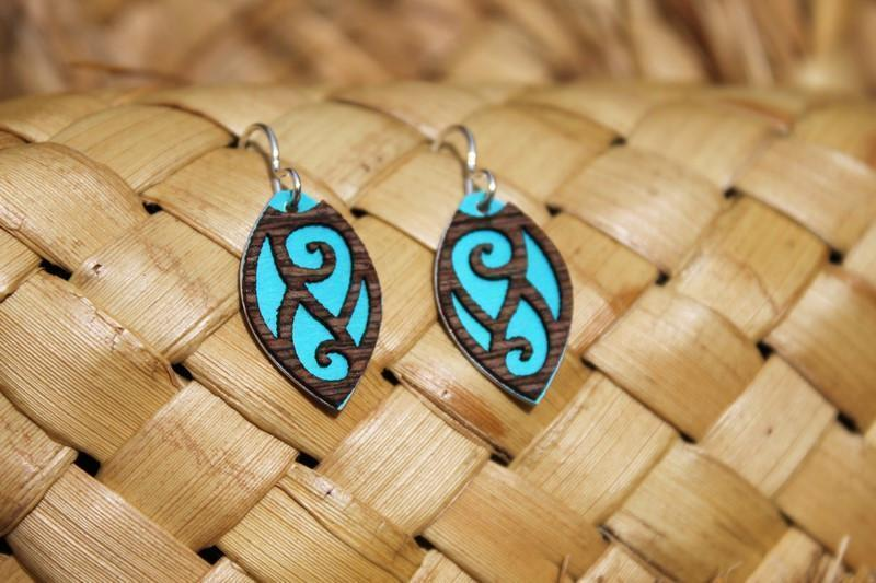 Patiki Earring-SALE / NZ-Not specified-Teal-The Outpost NZ