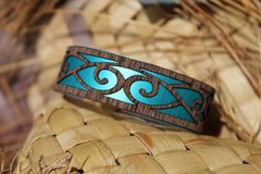 Patiki Narrow Cuff-NZ JEWELLERY-Jill Main (NZ)-Teal-The Outpost NZ