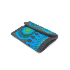 Patterned Cotton Wallet-ACCESSORIES / PURSES & WALLETS-Genesis Trade & Export Pvt. Ltd (NEP)-Blue-The Outpost NZ