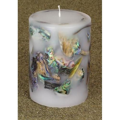 Paua Candle Large Cylinder-NZ CANDLES-National Candles Ltd (NZ)-The Outpost NZ