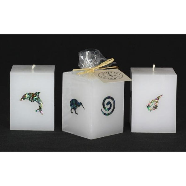 Paua Candle Square Icons-NZ CANDLES-National Candles Ltd (NZ)-The Outpost NZ