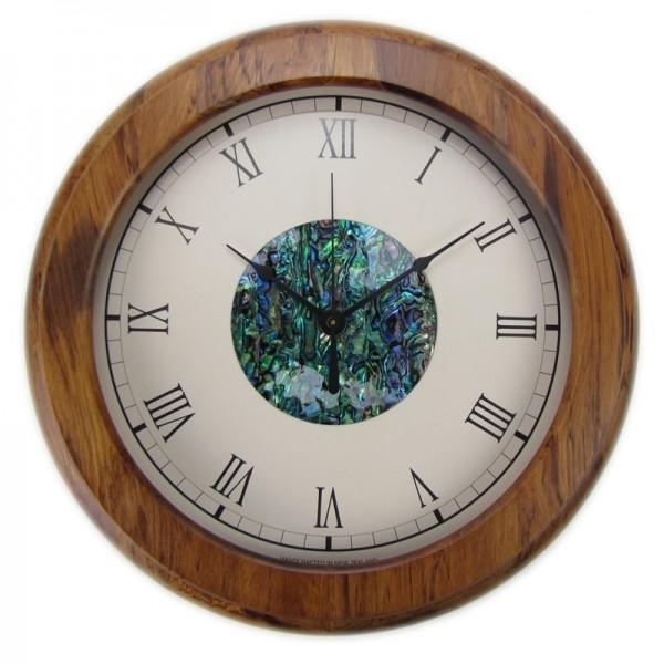 Paua Hub Roman Numeral Rimu Clock-SALE / NZ-Not specified-The Outpost NZ