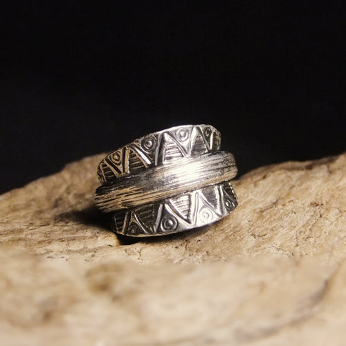 Petal Wide Silver Ring-JEWELLERY / RINGS-Jewelery Center (THA)-52-The Outpost NZ