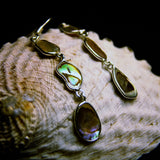 Petrea Paua Sterling Silver Earrings-JEWELLERY / EARRINGS-Silver Supply 1 (IND)-S-1 Drop-The Outpost NZ