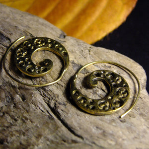 Polka Spiral Earring-JEWELLERY / EARRINGS-Not specified-The Outpost NZ