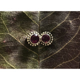 Precious Stone Studs-JEWELLERY / EARRINGS-Kagdi Jewellery - Carina (IND)-Round-Rose Quartz-The Outpost NZ