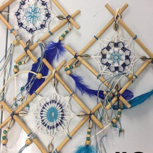Quad Dreamcatchers-HOMEWARES-Chart (THA)-27cm-White/Blue-The Outpost NZ