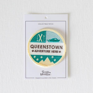 Queenstown Kiwiana Patch-NZ ACCESSORIES-Live Wires (NZ)-The Outpost NZ