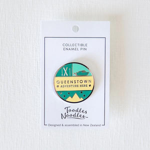 Queenstown Kiwiana Pin-NZ ACCESSORIES-Live Wires (NZ)-The Outpost NZ