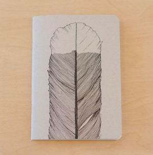 Recycled Paper Lined Notebook-NZ STATIONERY-Tumbleweed Tees (NZ)-Huia-The Outpost NZ