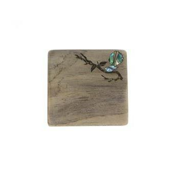 Recyclewood Coasters-NZ HOMEWARES-Ocean Shell Studios (NZ)-Tui-The Outpost NZ