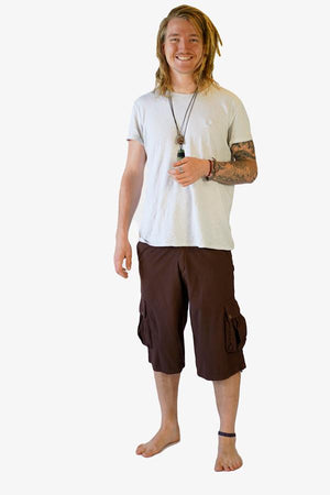 River Cotton Shorts-CLOTHING / SHORTS-Choice Fashion (NEP)-Coffee-S-The Outpost NZ[Mens]