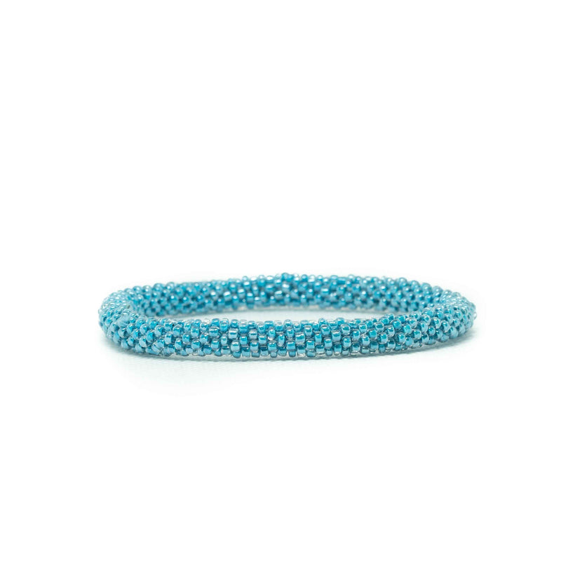Roll on Bracelet-JEWELLERY / BRACELET-Glass Beads (NEP)-Blue-The Outpost NZ