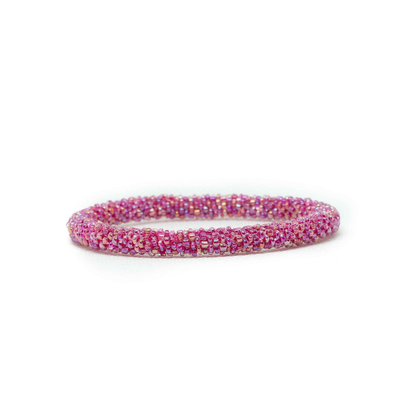 Roll on Bracelet-JEWELLERY / BRACELET-Glass Beads (NEP)-Pink-The Outpost NZ