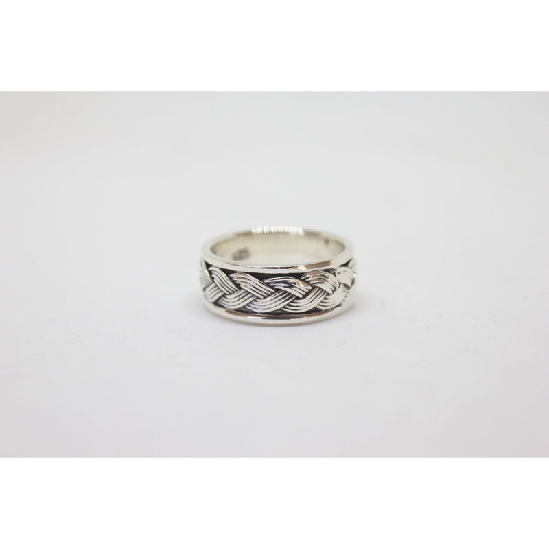 Rope Silver Ring-JEWELLERY / RINGS-Not specified-58-The Outpost NZ