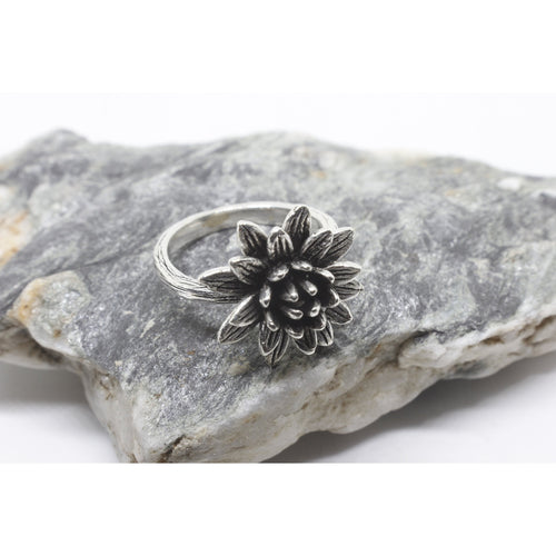 Rune Silver Ring-JEWELLERY / RINGS-Silver Mature (THA)-57-The Outpost NZ