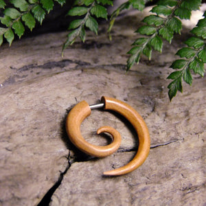 Sawo Wood Fake Spiral Stretcher-JEWELLERY / PLUGS & STRETCHERS-Acha Co LTD (THA)-4mm-The Outpost NZ