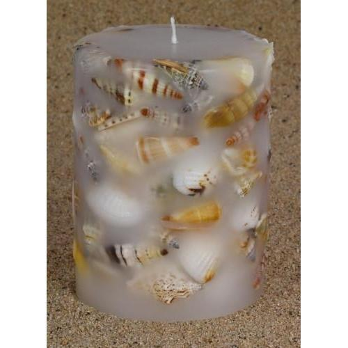 Shell Candle Medium Cylinder-NZ CANDLES-National Candles Ltd (NZ)-The Outpost NZ