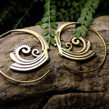 Sia Spiral Earring-JEWELLERY / EARRINGS-Not specified-The Outpost NZ