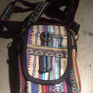 Side Bag Cotton Ribbon-ACCESSORIES / BAGS-Thamel Handicraft Collection (NEP)-The Outpost NZ