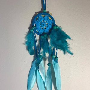 Small Crochet Dreamcatchers-HOMEWARES-Iyada Shop (THA)-Turquoise-The Outpost NZ