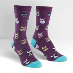 Smarty Cats Female Crew Socks-NZ ACCESSORIES-Espial Marketing Ltd (NZ)-The Outpost NZ