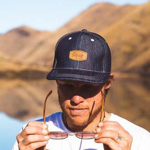 Snap Back Hat Plain-ACCESSORIES / HATS-Long Ma Lae (THA)-Denim-The Outpost NZ