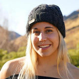 Snow Cable Beanie-ACCESSORIES / BEANIES-Sweater & Pashmina House (NEP)-Black-The Outpost NZ