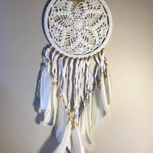 Snowflake Crochet Dreamcatchers-HOMEWARES-Iyada Shop (THA)-Small-The Outpost NZ