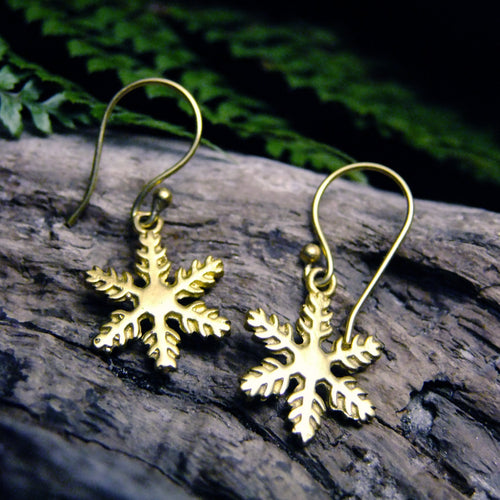 Snowstar Brass Earring-JEWELLERY / EARRINGS-Not specified-The Outpost NZ