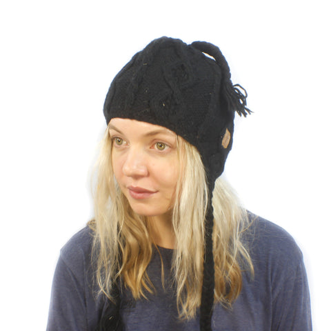 Solid Toque Beanie-ACCESSORIES / BEANIES-Sweater & Pashmina House (NEP)-Brown-The Outpost NZ