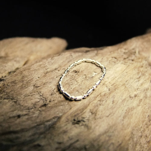 Spaced Chain Silver Ring-JEWELLERY / RINGS-Jewelery Center (THA)-50-The Outpost NZ