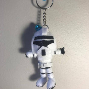Storm Trooper Key Ring-Stationery-Not specified-The Outpost NZ