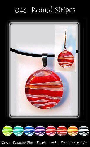 Stripes Round-NZ JEWELLERY-TracyH (NZ)-Green-Pendant-The Outpost NZ
