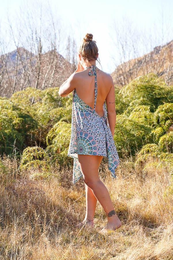 Sunshine Freedom Top-CLOTHING / TOPS-Sunshine (THA)-Petal Mandala-Blue-The Outpost NZ
